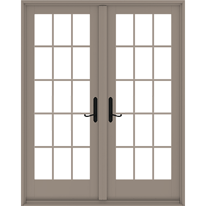 Andersen 400 Series Frenchwood Hinged Patio Door (Vinyl Exterior / Wood Interior)